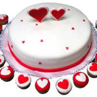 torta corazones caprichitos dulces