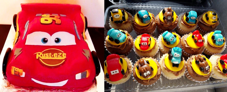 torta cupacakes cars caprichitos dulces
